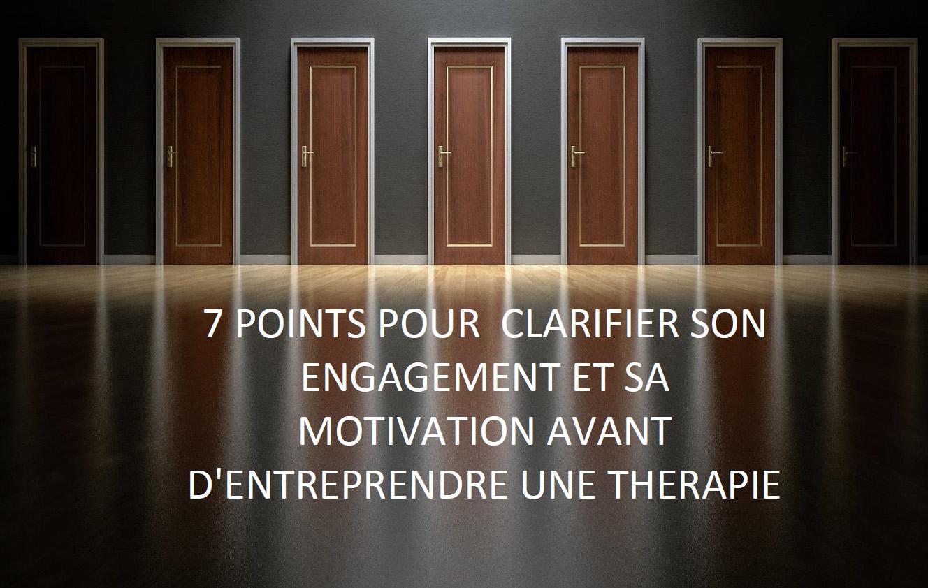 7 points sur la motivation et l'engagement avant d'entrer en thérapie